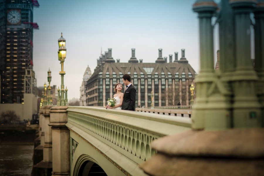 London Pre-Wedding Photoshoot At Westminster Abbey, Millennium Bridge And Church Ruins by Dom  on OneThreeOneFour 7