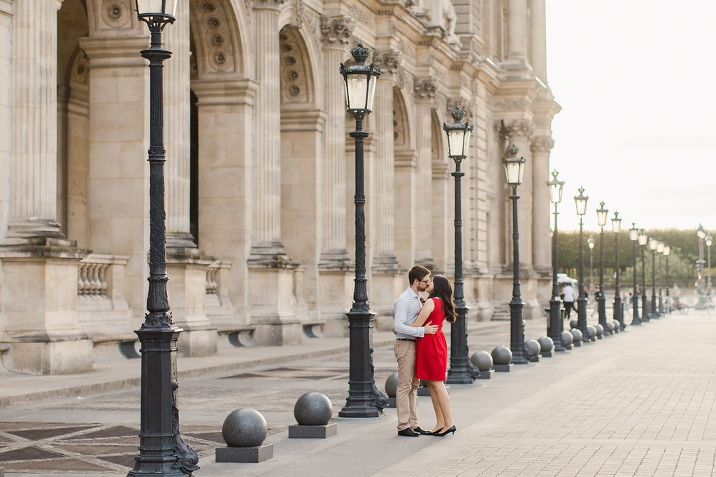 Paris Engagement Photo Shoot Louvre Palace and Tuileries Gardens  by Celine on OneThreeOneFour 4