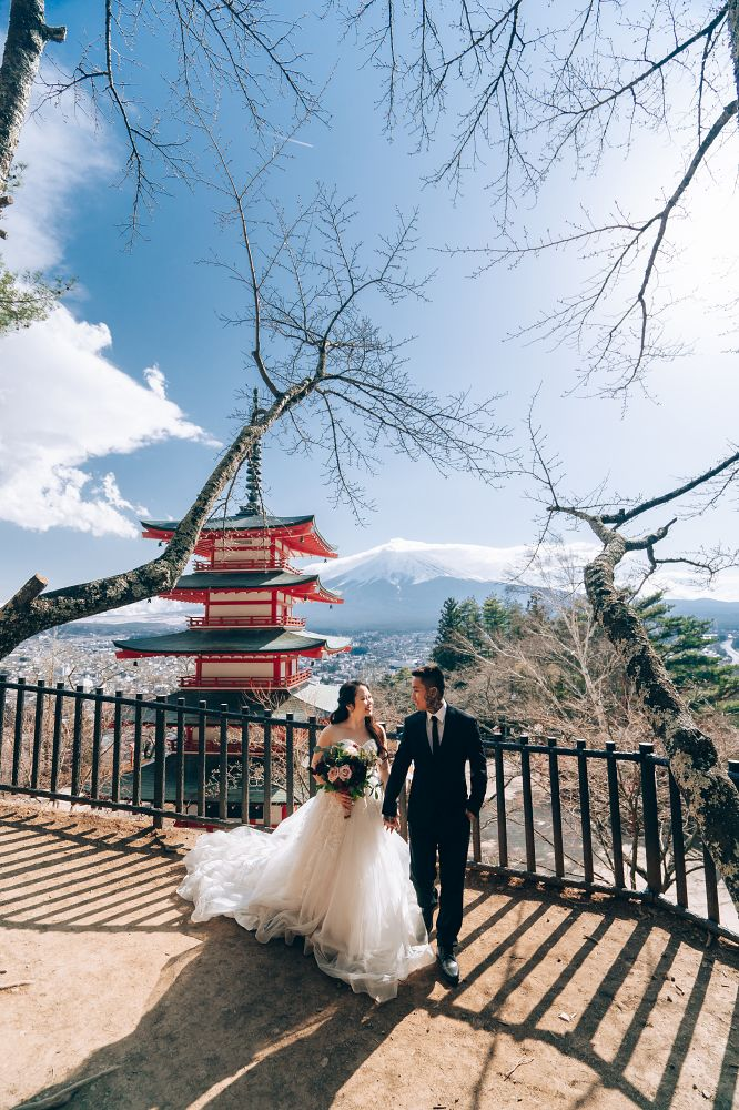 J&A: Pre-wedding in Tokyo with early blooming sakura and Mt Fuji by Dahe on OneThreeOneFour 14