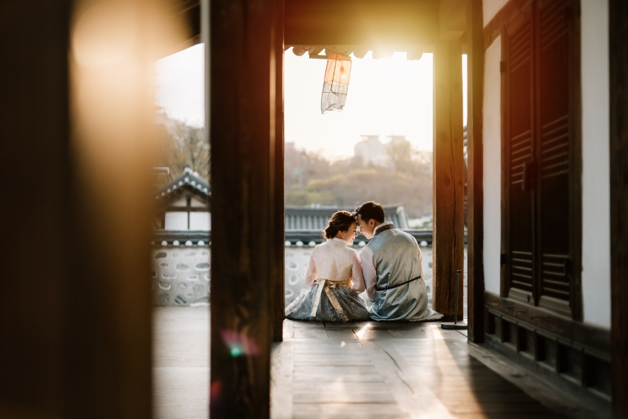 C&J: Korea Spring Pre-wedding Photoshoot with Hanbok at Namsangol Hanok Village and Nami Island by Jungyeol on OneThreeOneFour 7
