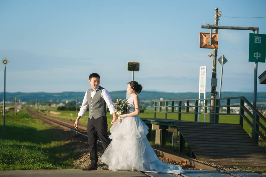 Hokkaido Pre-Wedding Photoshoot At Blue Pond, Flower Farms And Lavender Park in Furano & Biei  by Kuma on OneThreeOneFour 19