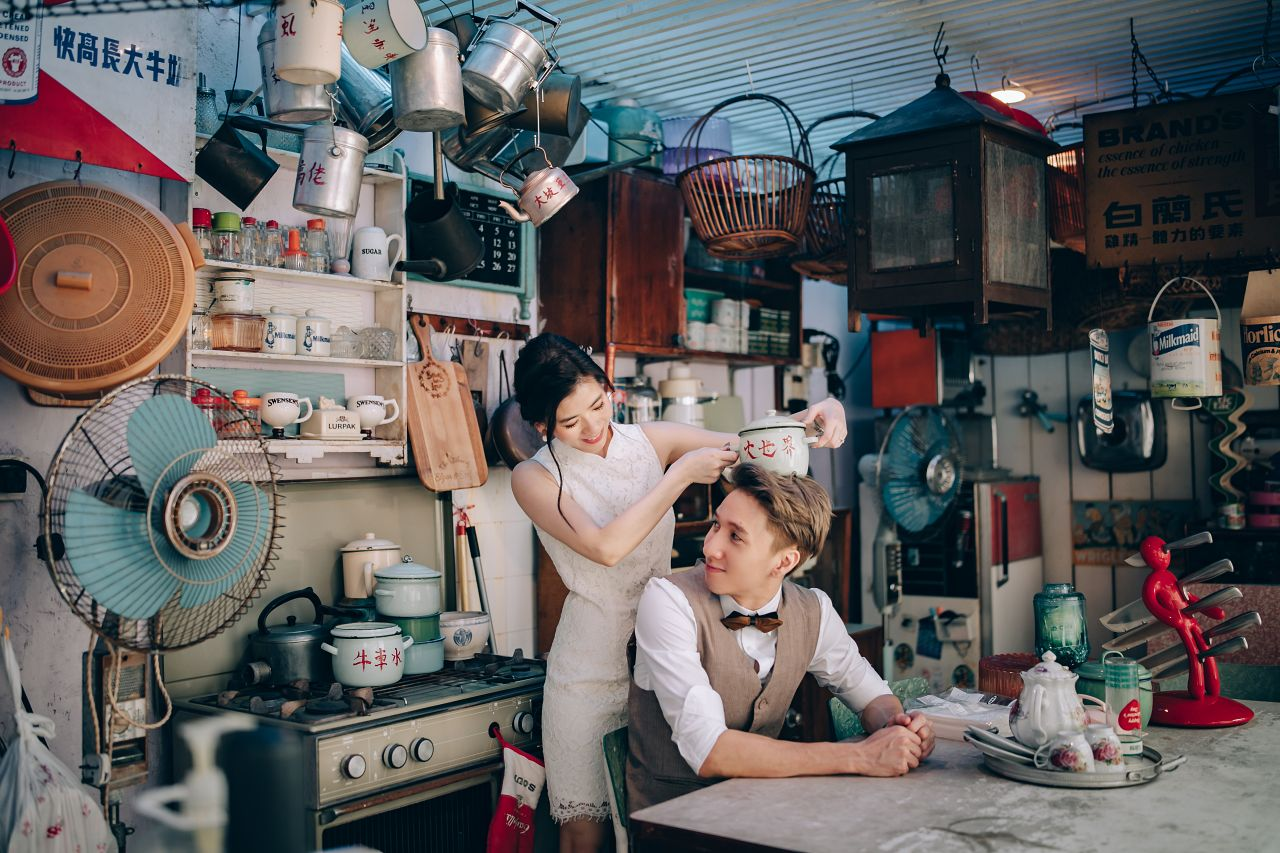 Vintage Studio Pre-Wedding Photoshoot by Chan on OneThreeOneFour 21