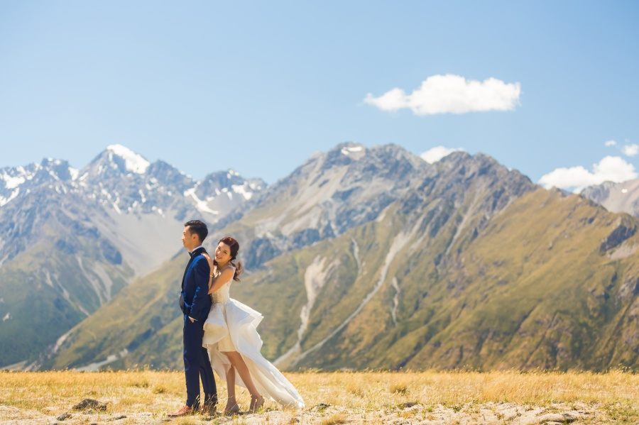 New Zealand Pre-Wedding At Lake Pukaki, Lake Tekapo And Mt. Cook National Park  by Xing on OneThreeOneFour 1
