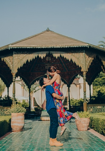 Morocco Pre-Wedding Photoshoot At Marrakech - Le Jardin Secret And Djemma El Fna Tower