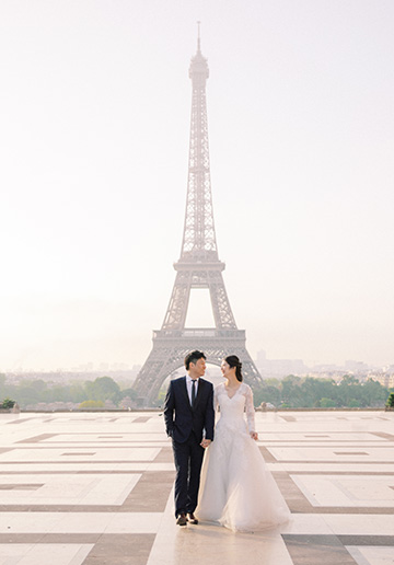 M&Y: Paris Pre-wedding Photoshoot at Pont des Arts and Luxembourg Gardens