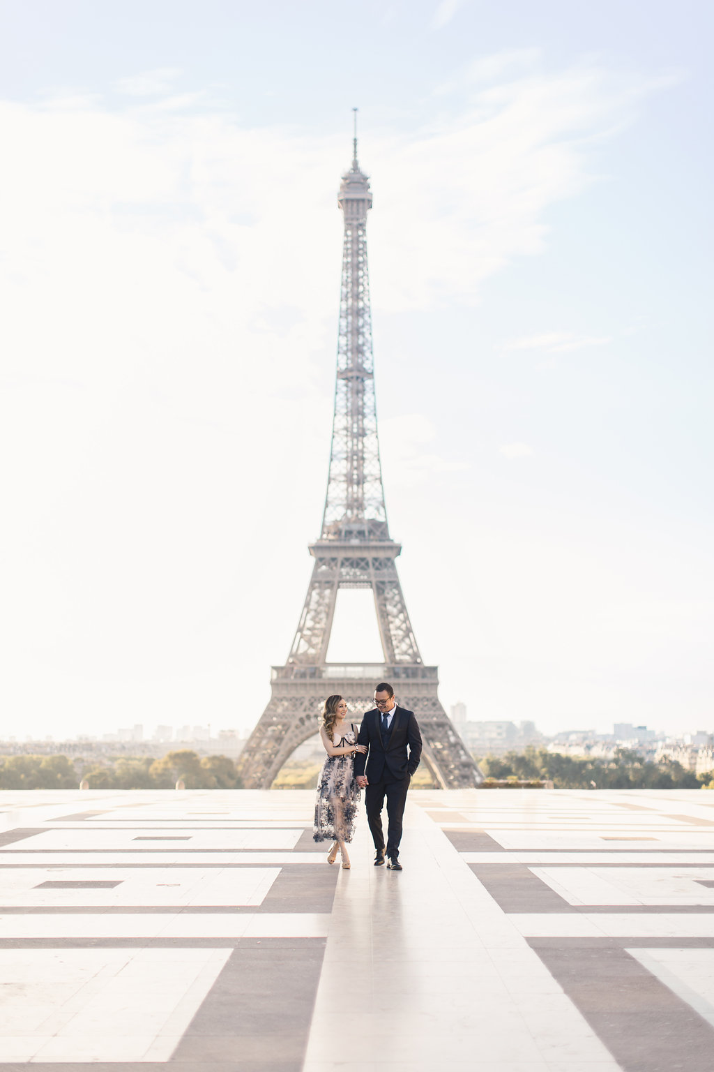 Paris Wedding Photoshoot at Eiffel Tower, Petit Palais, Louvre and Parisian Cafe by Celine on OneThreeOneFour 2
