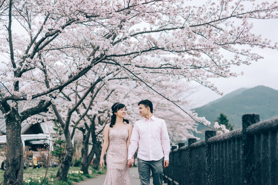 Japan Tokyo Pre-Wedding Photoshoot At Traditional Japanese Village And Pagoda During Sakura Season by Lenham on OneThreeOneFour 0