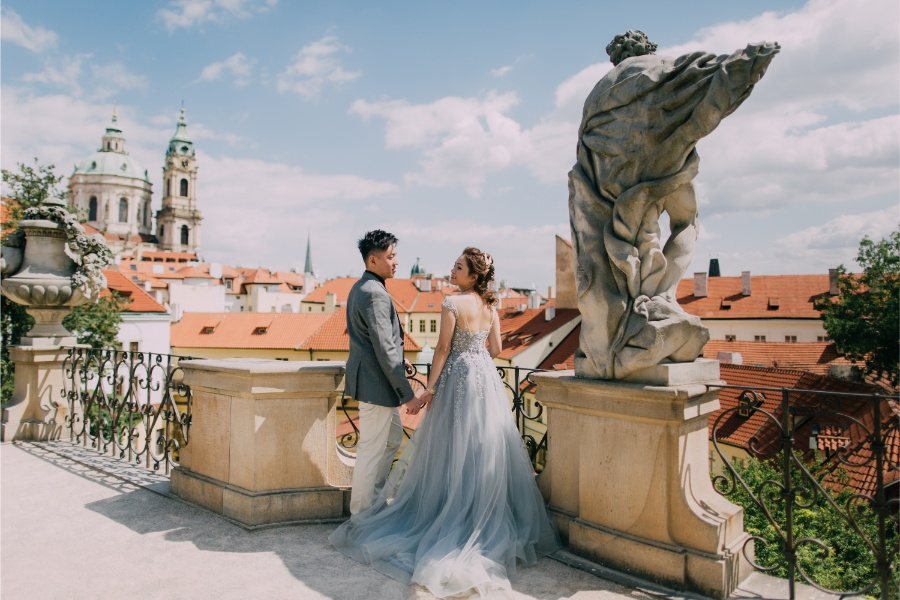 Prague Astronomical Clock Prewedding Photoshoot near Charles Bridge by Nika on OneThreeOneFour 72