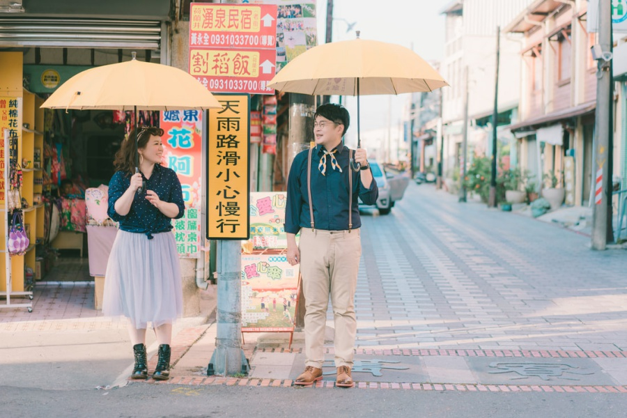 Taiwan Casual Couple Photoshoot At Old Shopping Streets  by Star on OneThreeOneFour 0