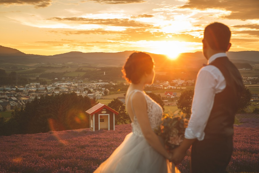 Hokkaido Pre-Wedding Photoshoot At Blue Pond, Flower Farms And Lavender Park in Furano & Biei  by Kuma on OneThreeOneFour 27