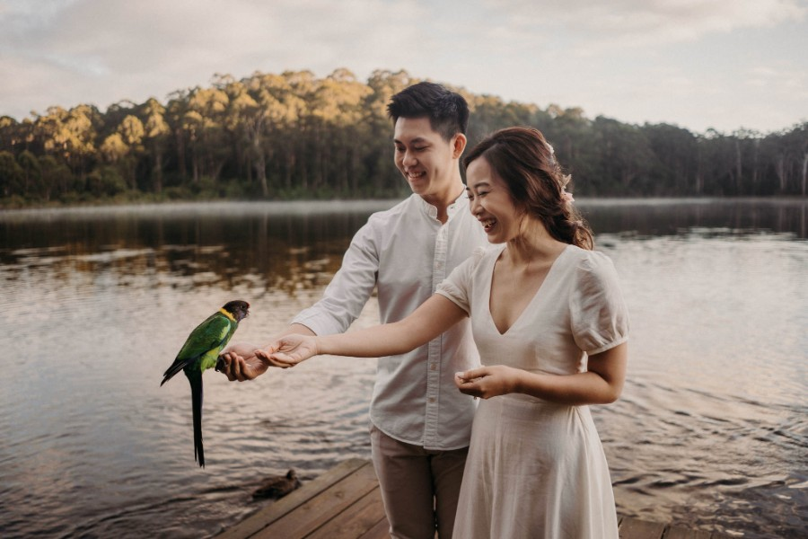 C&S: Perth pre-wedding overlooking a valley, with whimsical forest and lake scene by Jimmy on OneThreeOneFour 7