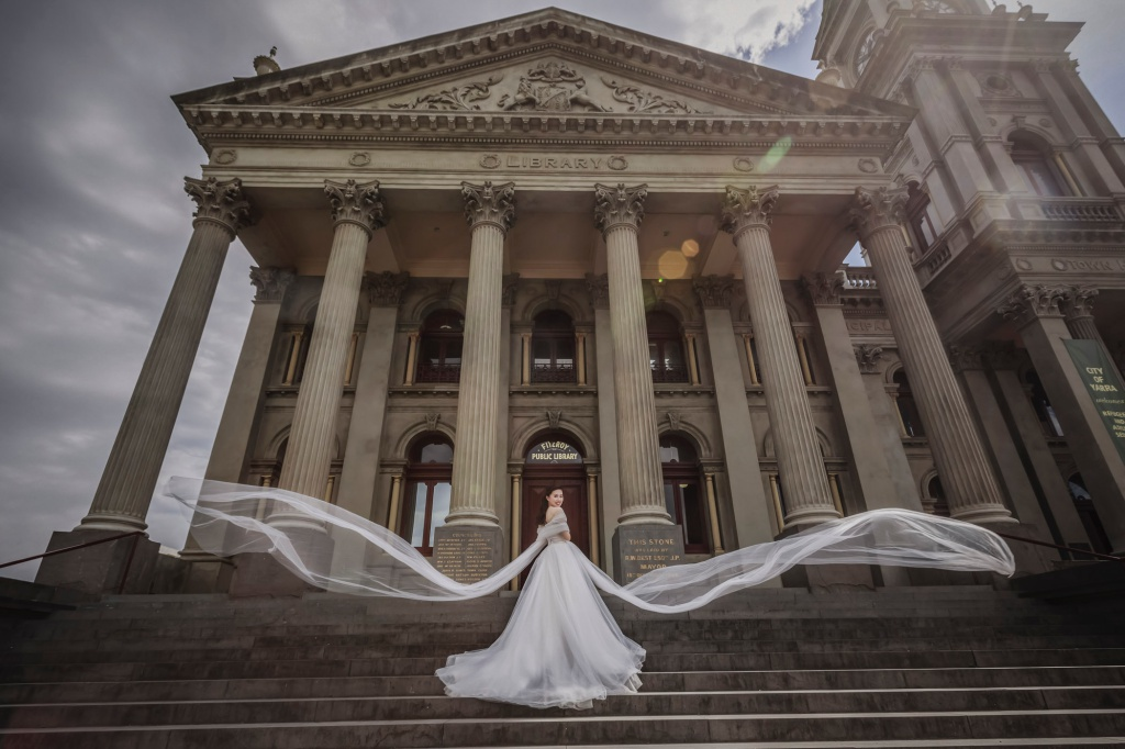 Melbourne Outdoor Pre-Wedding Photoshoot At Fitzroy Town Hall And Mornington Peninsula  by Alex on OneThreeOneFour 4