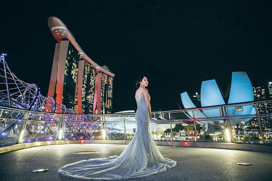 Singapore Pre-Wedding Photoshoot At Summerhouse, Lower Pierce Reservoir And MBS Night Shoot by Cheng on OneThreeOneFour 29